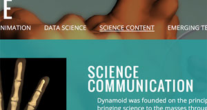 Science visualization company website